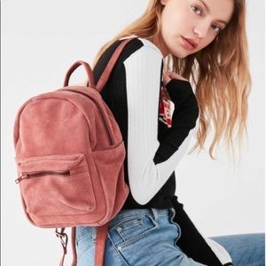 Urban Outfitters Pink Suede Mini Backpack